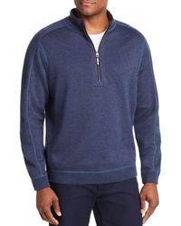 Tommy Bahama Flipsider Reversible Half - Zip Sweatshirt - Blue