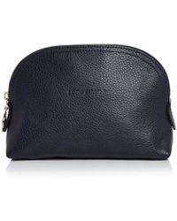 Longchamp Le Foulonne Leather Cosmetics Case - Blue