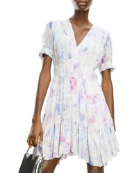 The Kooples Floral Print Mini Dress - White