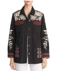 Johnny Was - Surya Embroidered Military Jacket - Lyst