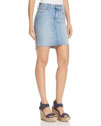 Joe's Jeans - High/low Denim Skirt In Shawny - Lyst