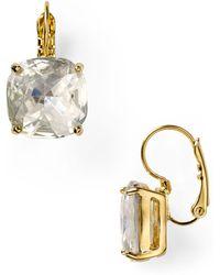 Kate Spade - Square Leverback Earrings - Lyst