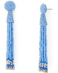 Aqua - Fringe Drop Drop Earrings - Lyst