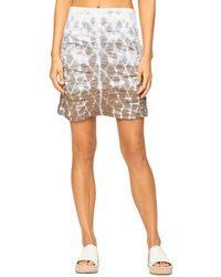 XCVI Tie Dyed Ruched Skirt - Multicolour