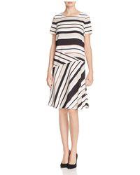 Lafayette 148 New York - Greta Stripe Dress - Lyst