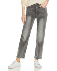 Pistola Charlie High Rise Straight Leg Jeans In Misguided - Grey