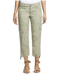 Sanctuary - Terrain Cropped Camouflage-print Cargo Trousers - Lyst