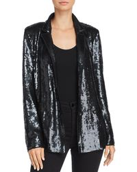 Joie Diandra Sequin Tuxedo Jacket - Black