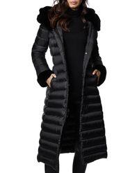 Dawn Levy Lexie Fur Trim Down Coat - Black