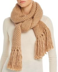 Echo Chunky Knit Scarf - Natural