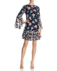 Eliza J - Floral Bell-sleeve Dress - Lyst