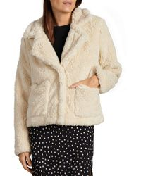 Sanctuary Daily Teddy Faux Shearling Jacket - Multicolor