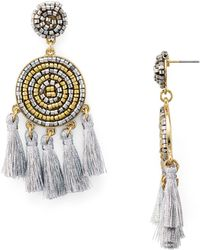 Aqua - Dreamcatcher Drop Earrings - Lyst