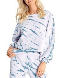 Wildfox Olivia Tie Dyed Sweatshirt - Blue