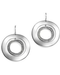 Ippolita - Sterling Silver Glamazon® Stardust Open Disc Pavé Diamond Drop Earrings - Lyst