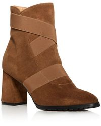 Andre Assous Women's Porter Strappy Pointed - Toe Block - Heel Booties - Brown