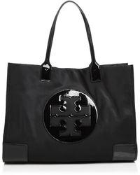 Tory Burch 'ella' Shopper Bag Navy Blue