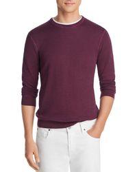 Bloomingdale's Garment Dyed Crewneck Sweatshirt - Purple