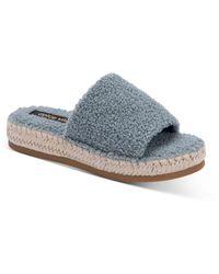 Dolce Vita Karlee Slip On Espadrille Sandals - Blue