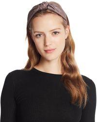 Aqua Glitter Knot Headband - Brown