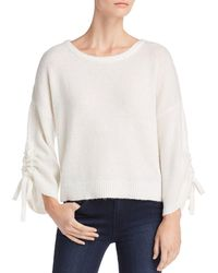 Kenneth Cole - Cropped Boat-neck Jumper - Lyst