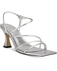 Marc Fisher Dami Strappy Slingback Sandals - Metallic