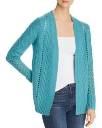 C By Bloomingdale's - Mixed - Stitch Open - Front Cashmere Cardigan - Lyst