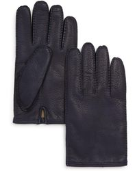 Bloomingdale's The Men's Store Leather Gloves - Blue