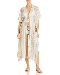 Surf Gypsy Embellished Duster Swim Cover - Up - White