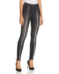 Hue - Zeza B By High-waisted Frayed Denim Leggings - Lyst