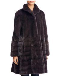Maximilian Saga Mink Fur Coat - Gray