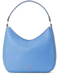 Kate Spade Roulette Large Pebbled Leather Hobo Bag - Blue