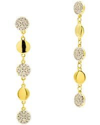 Freida Rothman Radiance Linear Drop Earrings In 14k Gold - Plated & Rhodium - Plated Sterling Silver