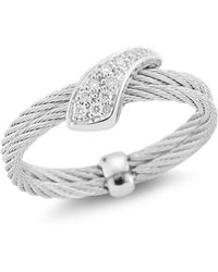 Alor - Diamond Twisted Ring - Lyst