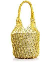Aqua Rai Large Net Bucket Bag - Multicolor