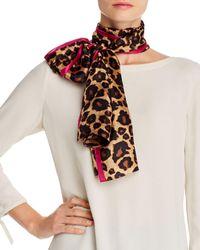 Echo Leopard Print Silk Scarf - Multicolour