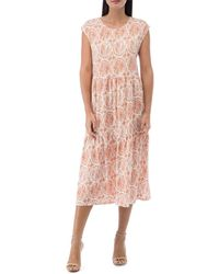 B Collection By Bobeau Janelle Disc Print Tee Dress - Pink
