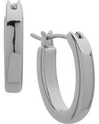 Ralph Lauren - Lauren Small Oval Hoop Earrings - Lyst