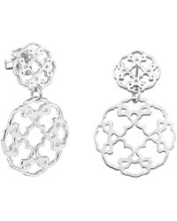 Tous - Sterling Silver Mosaic Drop Earrings - Lyst