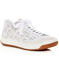 Burberry - Women's Timsbury Perforated Leather Lace Up Sneakers - Lyst