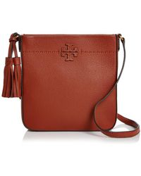 dadd7ad8d40b Tory Burch Lonnie Canvas Swingpack in Natural - Lyst