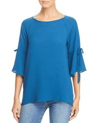 Status By Chenault - Bell-sleeve Tie Tunic Top - Lyst