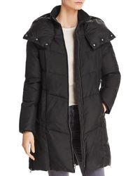 Cole Haan - Zip Front Puffer Coat - Lyst