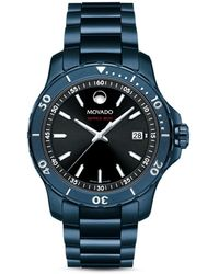 Movado Series 800 Blue Watch - Multicolor