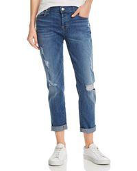 7 For All Mankind - Josefina Skinny Boyfriend Jeans In Radntpier - Lyst