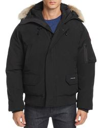 Canada Goose Chilliwack Fur - Trimmed Down Bomber Jacket - Black