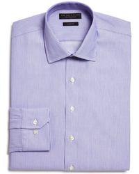 Bloomingdale's - Woven Stripe Slim Fit Dress Shirt - Lyst