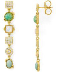 Freida Rothman - Amazonian Allure Stone Linear Drop Earrings - Lyst