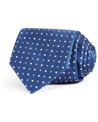 Bloomingdale's Large Alternating Dots Classic Tie - Blue
