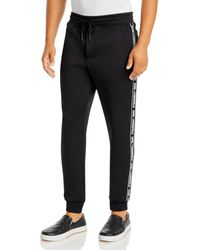 Karl Lagerfeld Taped Track Trousers - Black